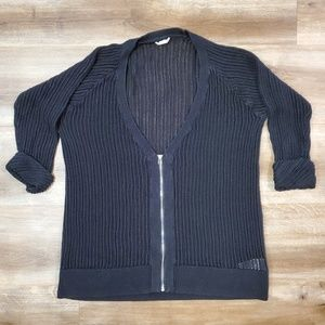 Silence + Noise Zip Up Cardigan Sweater
